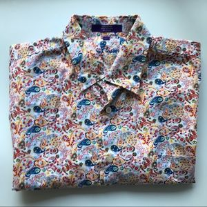 Alan Flusser Short Sleeve Shirt Brights Paisley